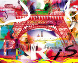 Paris s'eveille Print by  Kaly