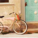 Vintage Pink Bike Posters af Mandy Lynne