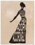 Text dress - La robe en lettres capitales Affiches par Lisa Vincent