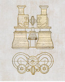 Antique Binoculars Print by Sam Appleman