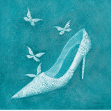 Butterfly Motif Shoe Prints by Deb Garlick
