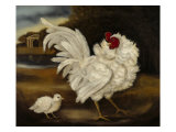 A Frizzle &amp; Chick Giclee Print by Porter Design 