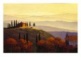 Tuscan Sunrise Premium Giclee-trykk av Max Hayslette