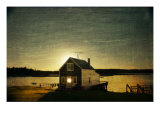 Cottage Sillouette Giclee Print by Doug Landreth