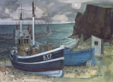 EAST COAST FISHING BOATS Collectable Print by JOSEPH MAXWELL
