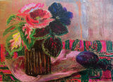 POPPIES AND PANSY Collectable Print by MARY ARMOUR