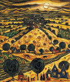 HARVEST MOON Collectable Print by CHARLES MONTEITH WALKER