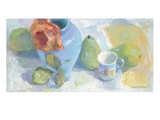Pears and Rose 1 Giclee Print by Carolyn Biggio