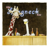 Couple of Longnecks Giclee Print by Will Bullas