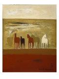 5 Ponies Giclee Print by Karen Bezuidenhout
