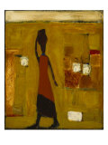 Walking Woman with Water Pot Giclee Print by Karen Bezuidenhout