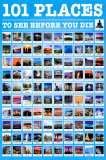 101 Places to See Posters