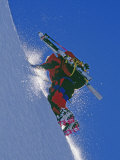 Ski Mountaineer Scales Mount Berry Photographic Print by Gordon Wiltsie