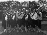 Field Hockey Team at Hood College Poses for a Picture Photographic Print by Clifton R. Adams