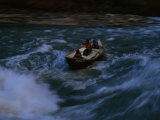 Small Boat Navigates the Rapids of the Colorado River Photographic Print by Michael Nichols