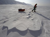 Crossing Sastrugi on the Frozen Billefjord Photographic Print by Gordon Wiltsie
