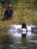 Duck Hunter and His Dog Photographic Print by Kate Thompson