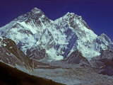 Unusual View of Mts. Everest, Nuptse and Makalu from Changri La Pass Photographic Print by Gordon Wiltsie