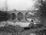 Person Reflects by the Edge of the Conococheague Creek Photographic Print by Clifton R. Adams
