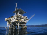 Offshore Oil and Gas Rig in the Pacific Ocean Photographic Print by James Forte