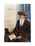 Ashkenazic Jew Poses with His Literature in His Lap Photographic Print by Maynard Owen Williams