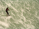 Kite Surfer Riding a Wave Off the Coast of Cape Town Photographic Print by Bobby Haas