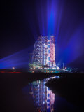 Apollo 11 Sits on its Launchpad the Night before Liftoff to the Moon Photographic Print by O. Louis Mazzatenta