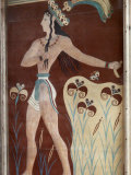 Fresco of a Minoan Priest King at Knossos, the Ancient Capital Photographic Print by Maynard Owen Williams