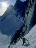 Climber in Clyde's Couloir on North Palisade Peak Photographic Print by Gordon Wiltsie