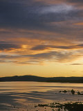 Sunrise and Lenticular Clouds over Mono Lake Photographic Print by Gordon Wiltsie