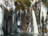 Frozen Falls of Hanging Lake Photographic Print by Rich Reid