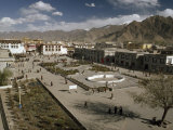 Tibet's Jokhang Temple and Barkhor Square before Modernization Photographic Print by Gordon Wiltsie