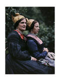 Women Wear Traditional Caps on Festival Days Photographic Print by Hans Hildenbrand