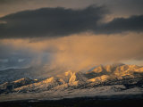 Stormy Sunset on Bridger Mountains Above Bozeman and Gallatin Valley Photographic Print by Gordon Wiltsie