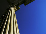 Stone Column Bathed in Warm Afternoon Light, and a Clear Blue Sky Photographic Print by  White & Petteway