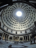 Interior of the Pantheon, the Oldest Domed Building, Photographic Print