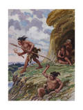 Neanderthals Used Flint-Tipped Spears and Stone Axes Photographic Print by Charles Knight