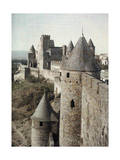 Towers and Battlements of Carcassonne Lámina fotográfica por Gervais Courtellemont