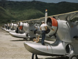 American Marines Clean Propellers on Planes Parked in a Row Photographic Print by Edwin L. Wisherd