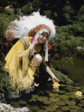 Miss Oklahoma of 1940 Poses in American Indian Attire Photographic Print by B. Anthony Stewart