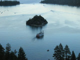 Cruise Boat for Sight-Seers Takes a Ride around Emerald Bay Photographic Print by Charles Kogod