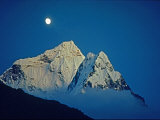 Moonrise over 6828-Meter Ama Dablam Photographic Print by Gordon Wiltsie