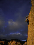 One Woman Rock Climbing Photographic Print by John Burcham
