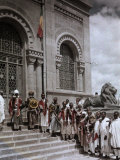 Group of Warriors Guard the Mausoleum of King Menelik Ii Photographic Print by W. Robert Moore