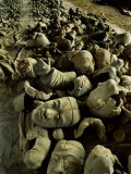 Broken Body Parts Await Reassembling in China's Great Terracotta Army Photographic Print by O. Louis Mazzatenta