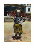 "This Choni Skeleton Performer Will Dance in the ""Old Dance"" Photographic Print by Dr. Joseph F. Rock"