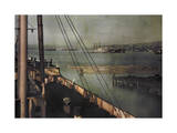 Ocean Faring Ships Dock in Seattle's Harbor, Lake Union Photographic Print by Clifton R. Adams