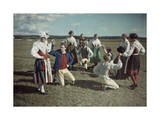 Group of Young Dancers Wear Festive Garb and Rehearse their Steps Photographic Print by Gustav Heurlin