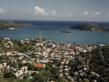 Elevated View of One of West Indies&#39; Harbors Photographic Print by Edwin L. Wisherd
