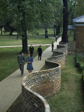Thomas Jefferson Designed a Serpentine Wall at University of Virginia, Photographic Print